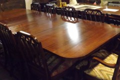 Antique Banquet Table and Chairs