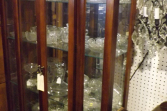 Antique Glass and Cherry Display Center