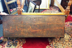 Very Large Coffer Campher Antique Wood Trunk